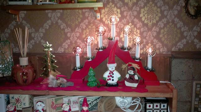 joulu kynttelikkö värikäs koti