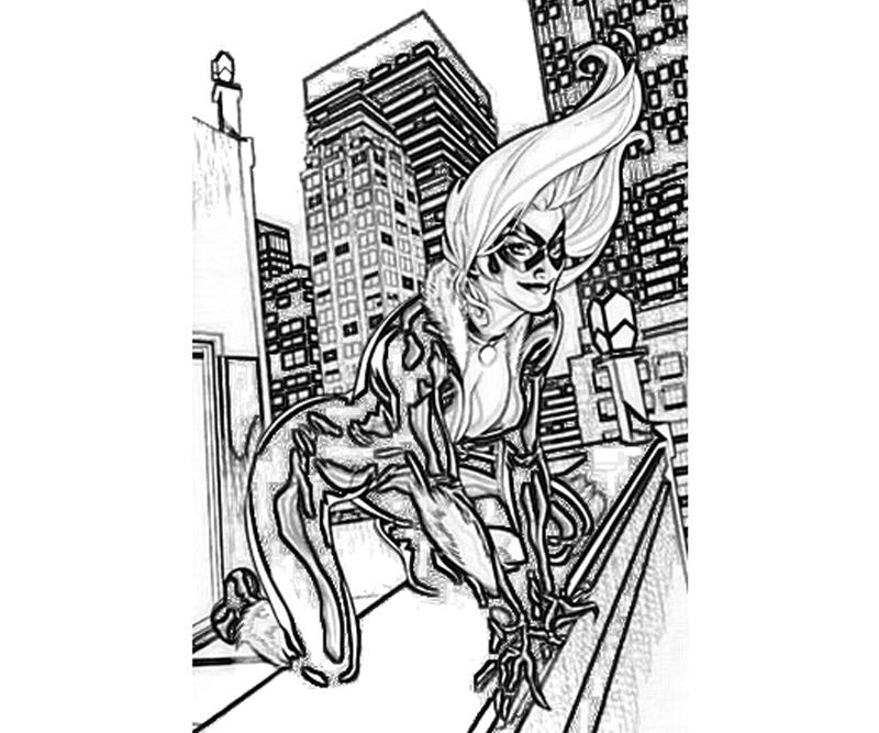 Black spiderman coloring pages games ~ The Amazing Spider-Man Blackcat | Yumiko Fujiwara