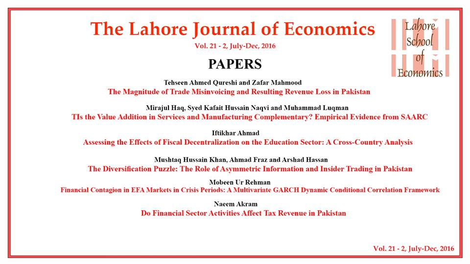 research papers of economics in pakistan International journal of academic research in effects of international trade on economic department of economics, gc university faisalabad, pakistan.