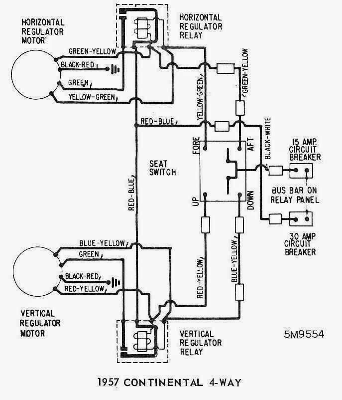 1957 ford power seat wiring diagram