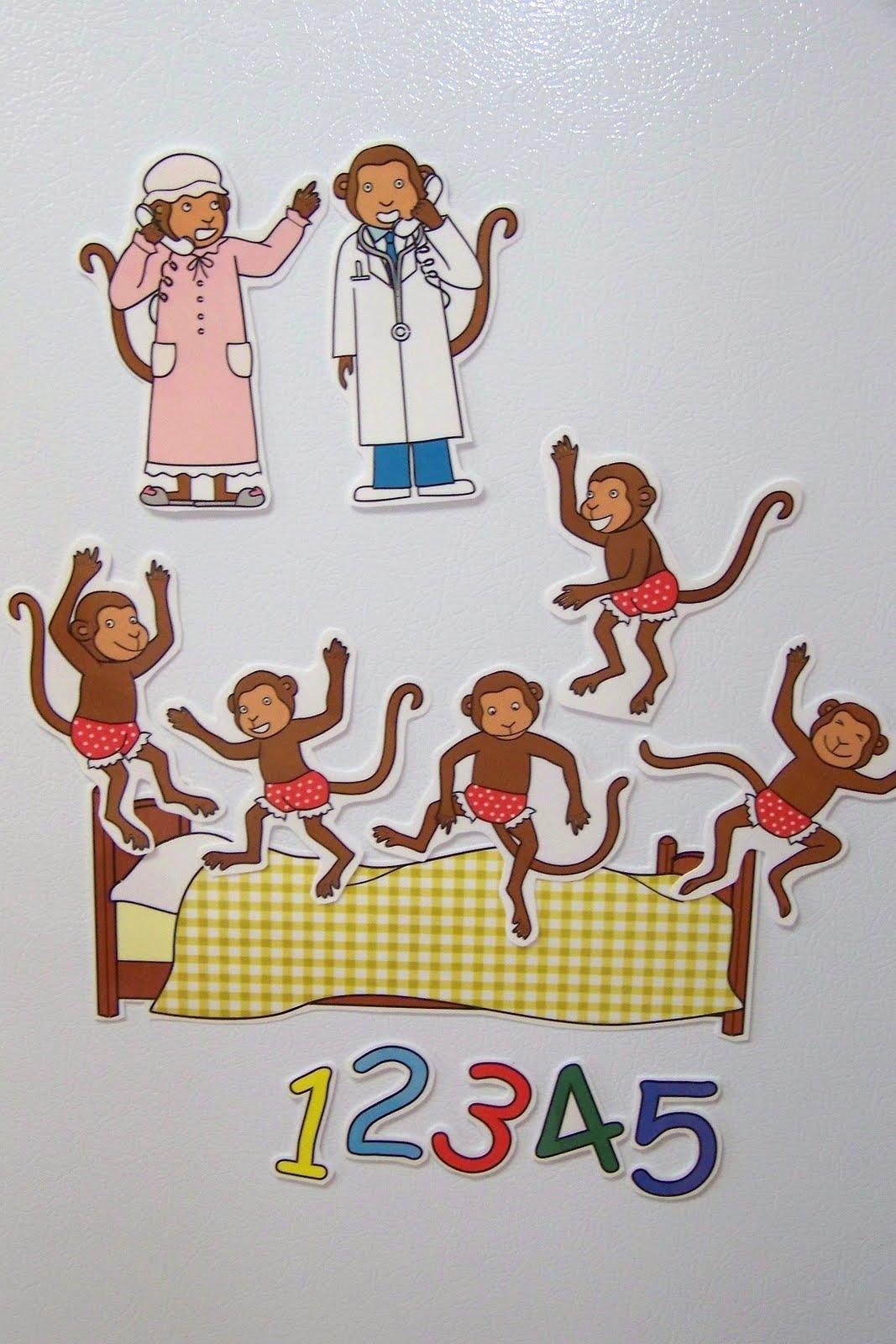 Doodle Bugs Teaching First Grade Rocks Five Little Monkeys Magnetic Storytelling Props