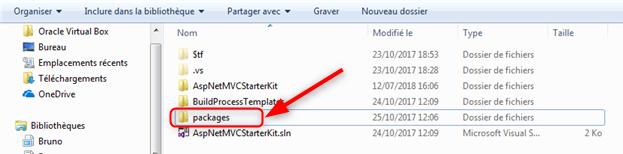Emplacement des Nugets dans ASP.NET Framework standard