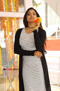 Telugu Actress Karunya Chowdary Stills in Black Dress at Soda Goli Soda Movie Opening  0300.JPG