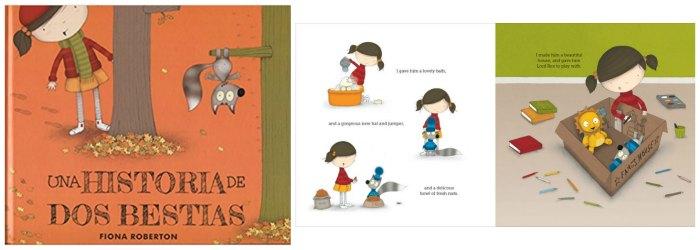 cuentos infantiles desarrollar fomentar empatia niños, una historia de dos bestias fiona roberton