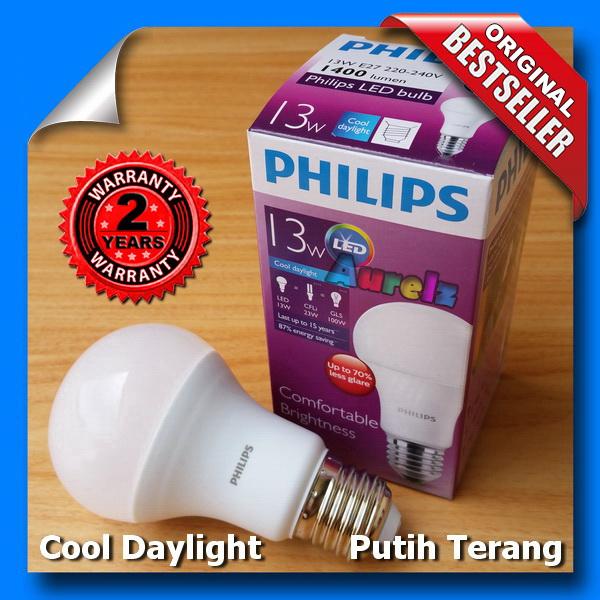 lampu led philips 13 watt cool daylight