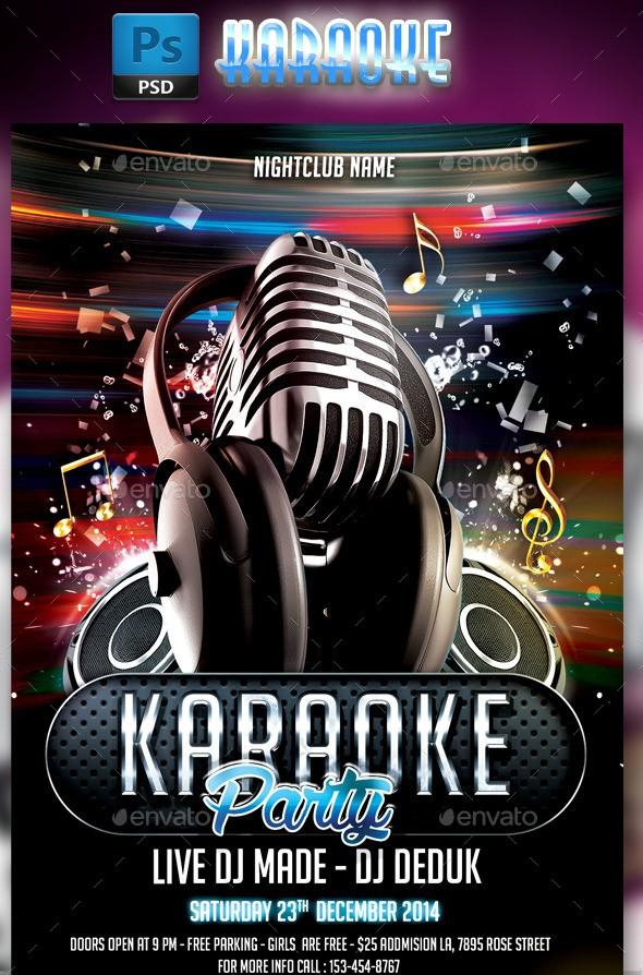 75 Best Karaoke Flyer Template