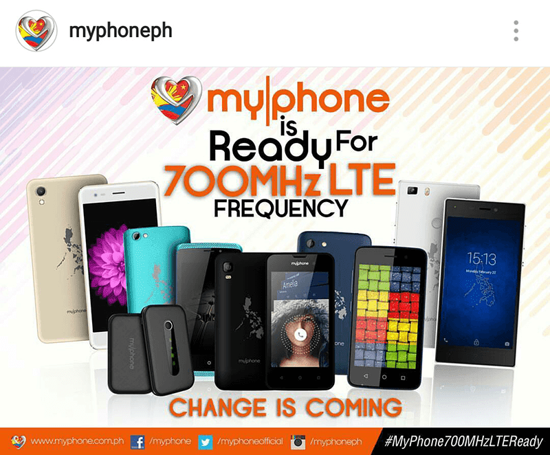 MyPhone 700 MHz devices