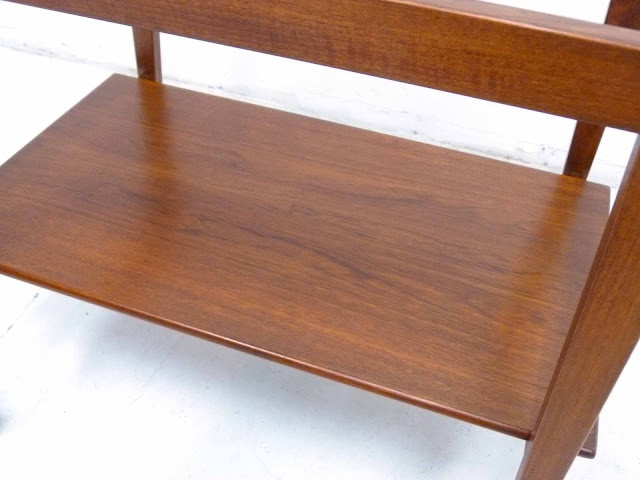 Danish Modern Teak Serving Bar Cart Tove and Edvard Kindt-Larsen Two-Tier