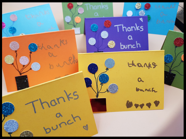 Making Thank you cards after Christmas