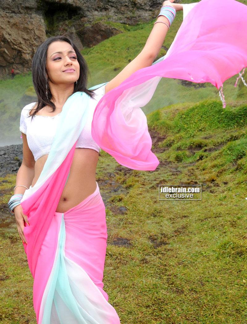 Kollywood Mirchi Trisha Krishnan Hot Deep Navel Show In -7781