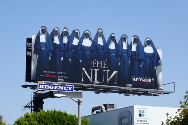 Nun movie special extension billboard