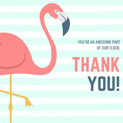 volunteer appreciation flamingo thank you