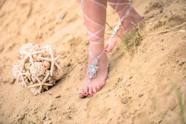 Bransoletki na stopy boho