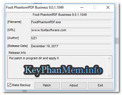 Hướng dẫn patch Foxit PhantomPDF Business 9
