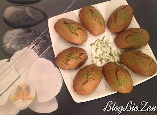 Madeleines sans gluten sans lactose au thé vert japonais Matcha - Aromandise