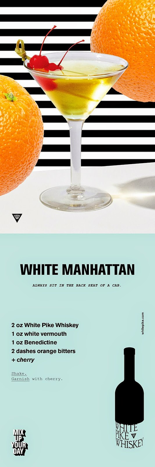 White Pike White Manhattan Recipe Card