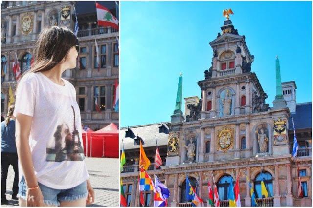 Fachada del Ayuntamiento de Amberes Antwerpen en Grote Markt