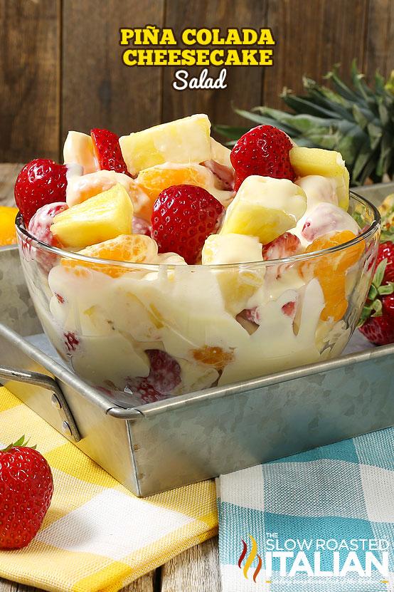 http://www.theslowroasteditalian.com/2017/06/pina-colada-cheesecake-salad.html