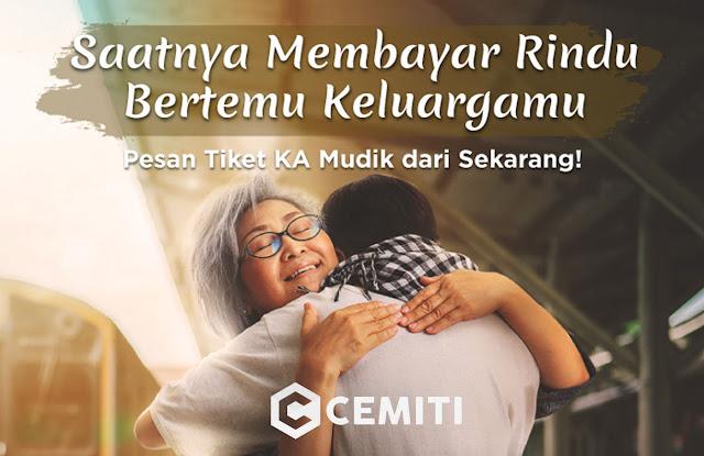 Jadwal Pemesanan Tiket Mudik Kereta Api Indonesia KAI 2019