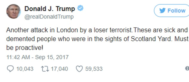 London Terror Attack: Theresa May criticises Donald Trump over 'unhelpful' tweets and speculation