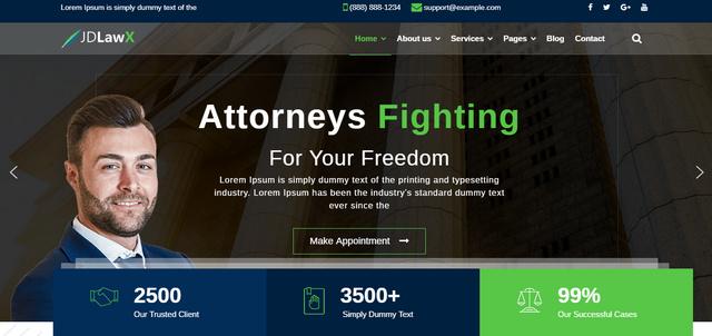 JD LawX Law Business Responsive Joomla Templates