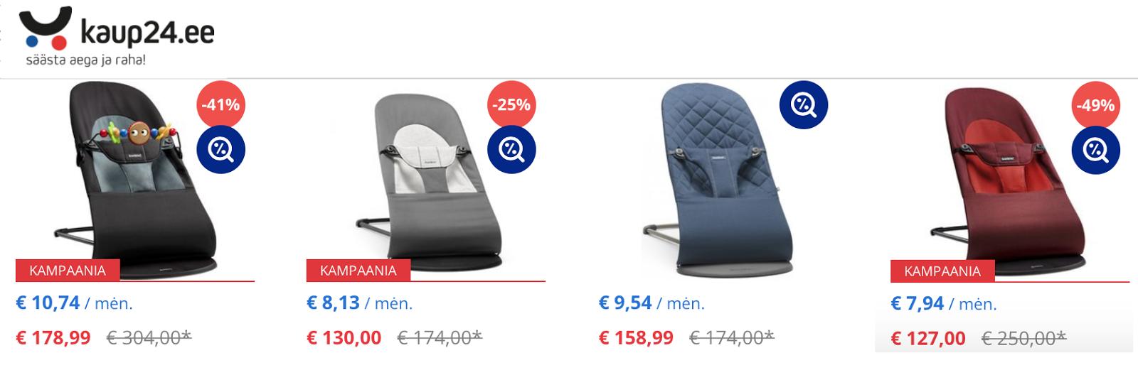 0e08936c508 Esmapilgul oleksid kaup24 e-poe hinnad soodsaimad, sest seal on kõige  suuremad allahindlusprotsendid. Mind pani jahmatama mänguasjadega  lamamistooli ...