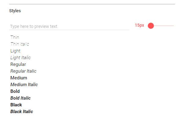 Elección del tamaño de fuente adecuado en Google Fonts