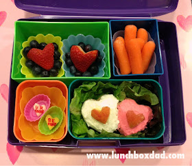 Valentines day easy kids lunch