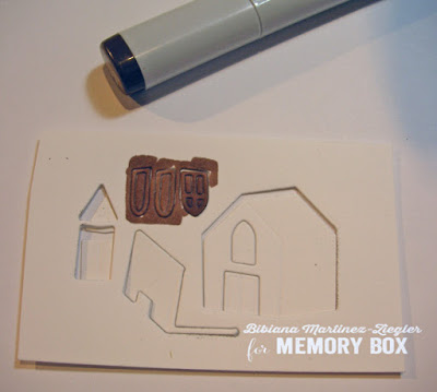 fall country house card coloring