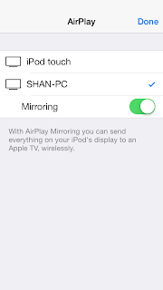 Turn on mirroring option