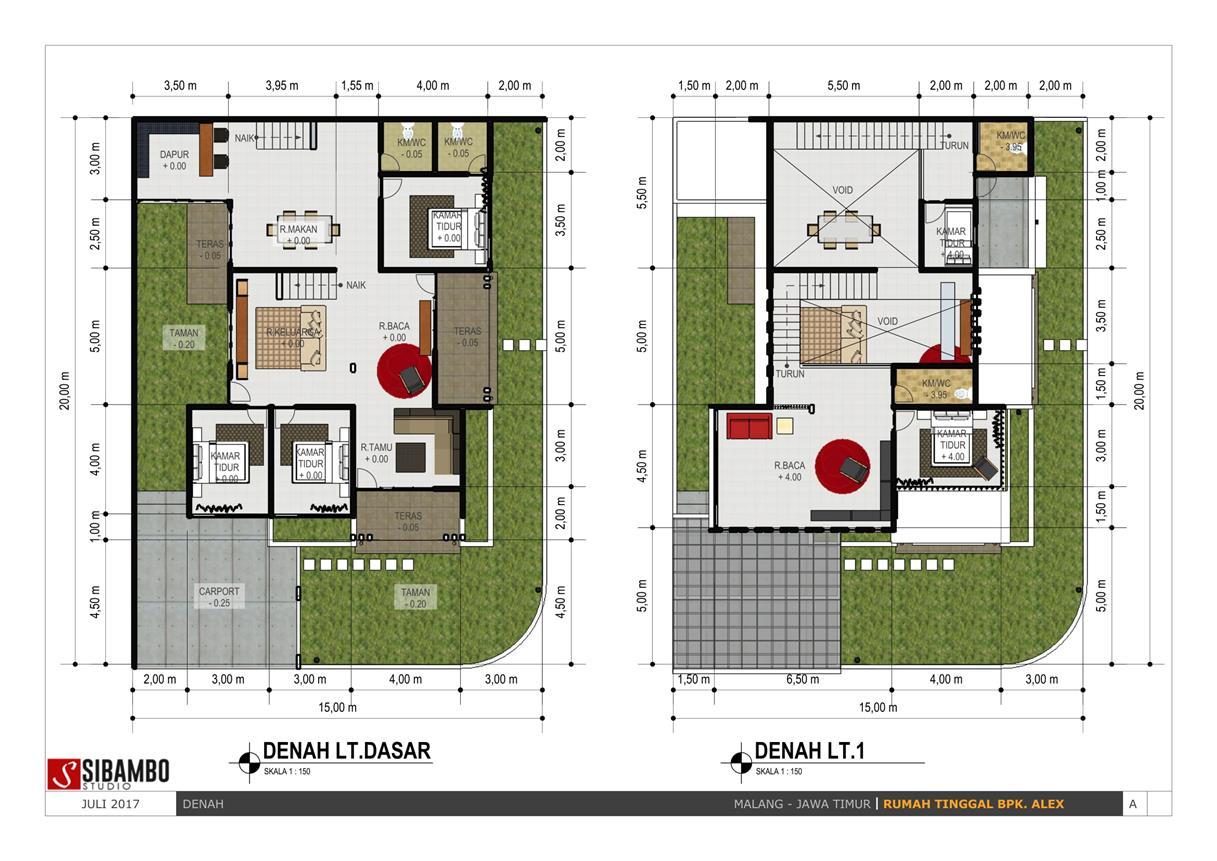 Inspirasi Desain Rumah Hook Bergaya Minimalis Modern 2 Lantai Di