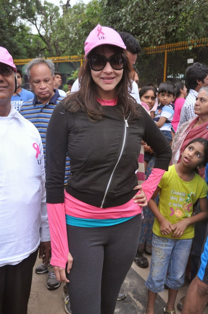 Manchu Lakshmi Prasanna Photos in Tights at Pink Ribbon Walk 2013