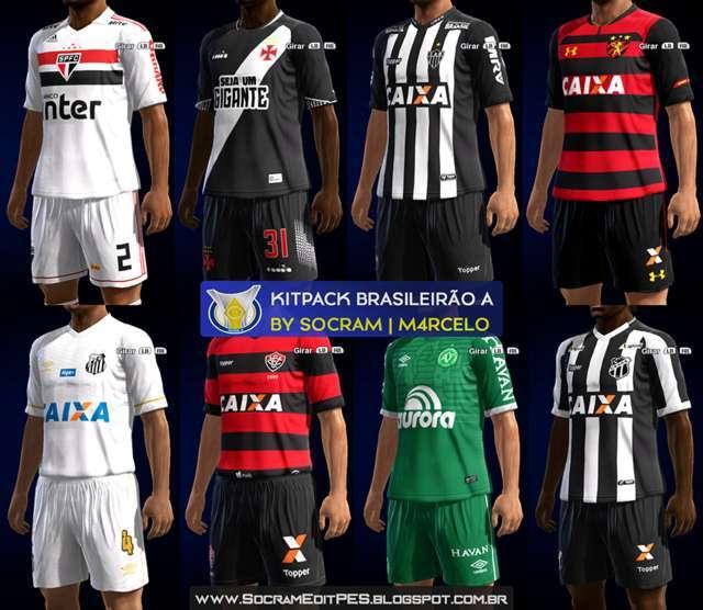Mega Kitpack Brasileirao 2018 PES 2013