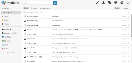 Mailpile. An Open Source Web-Based Email Client