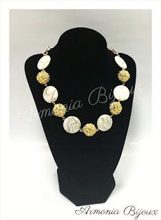 collana corta madreperla bianca oro