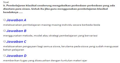 Soal Pretes PKB Guru Pembelajar SD