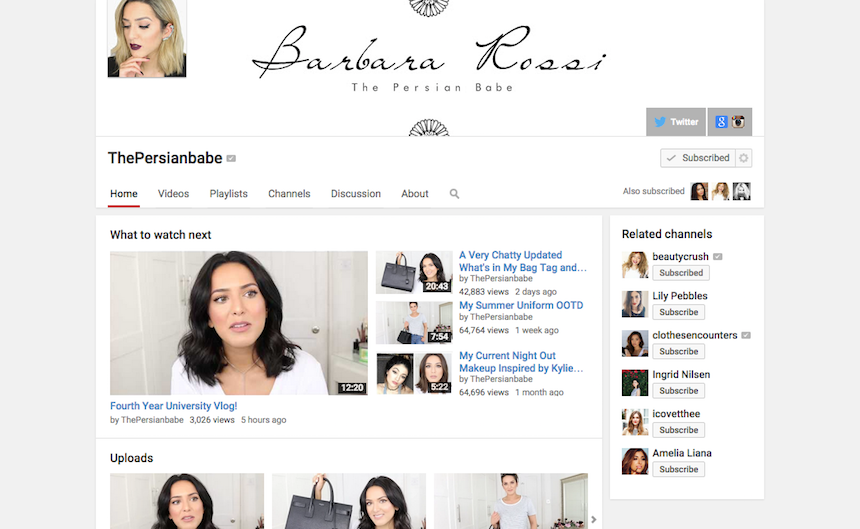 youtube, you tube, vloggers, vlog, current obsession, The Persian Babe