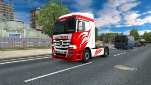 White Actros skin for Mercedes Actros 2009