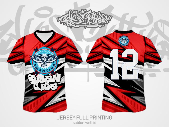 Desain Kaos Kelas Keren dengan Jersey Full Printing