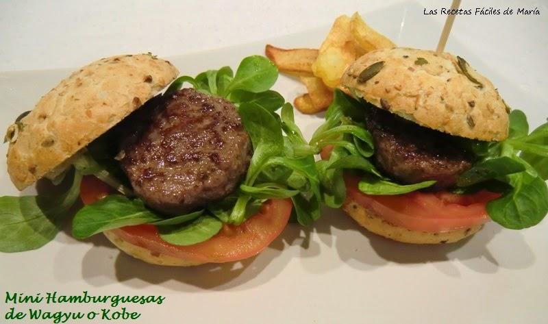 Mini hamburguesa de wagyu o kobe-Las recetas Fáciles de María