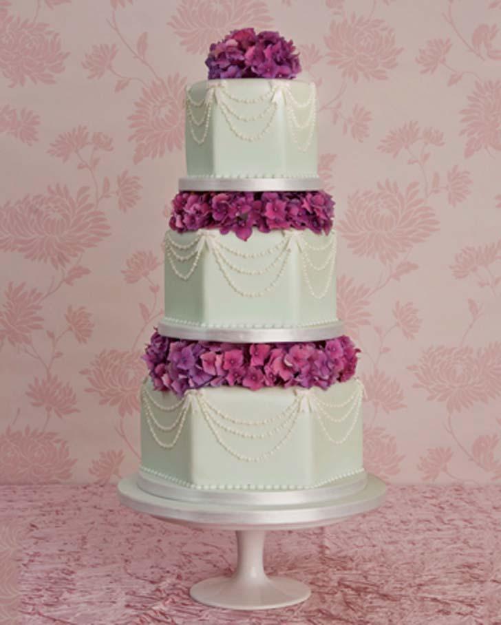 Beautiful Wedding Cakes 59 Vintage This unusually shaped hexagonal