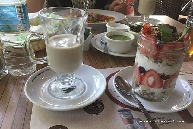 Yogurt and fruit breakfast