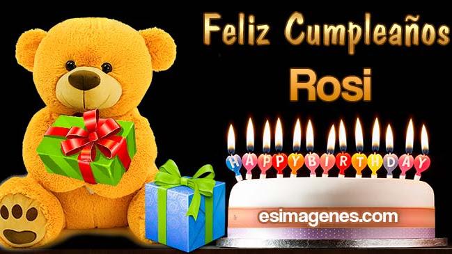 Feliz Cumpleaños Rosi