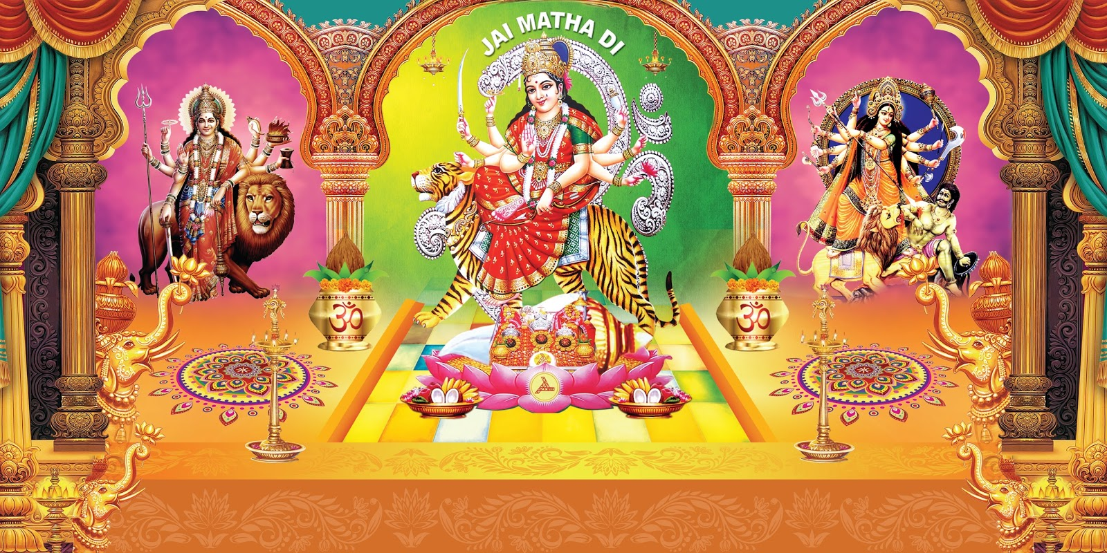 Maa Durga Hd Wallpapers And Images Free Online For Photoshop Naveengfx