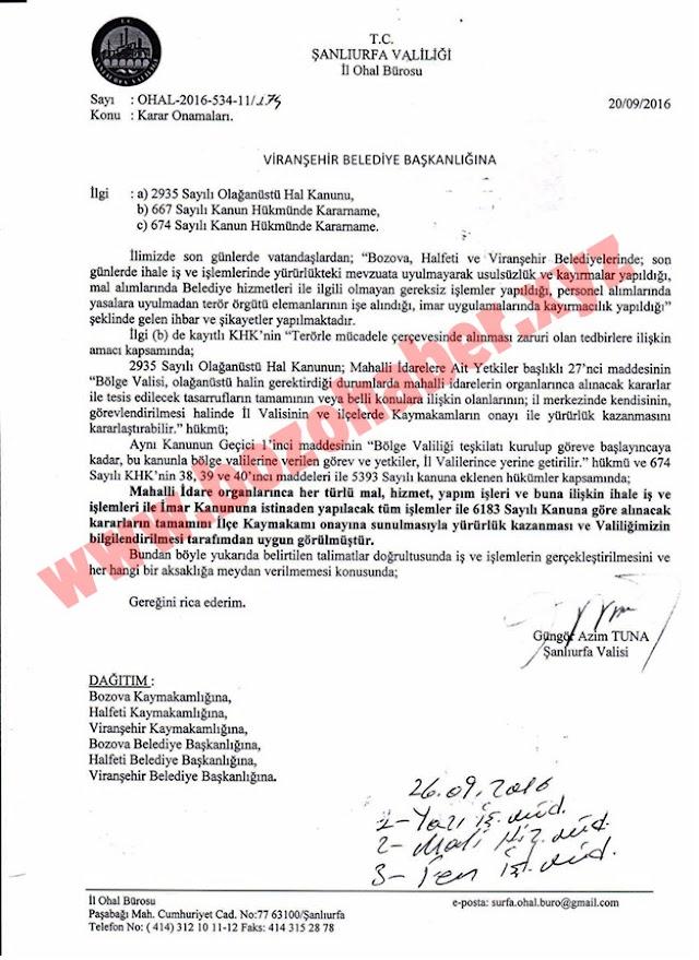 Bozova Belediyesine kayyum mu atandı?