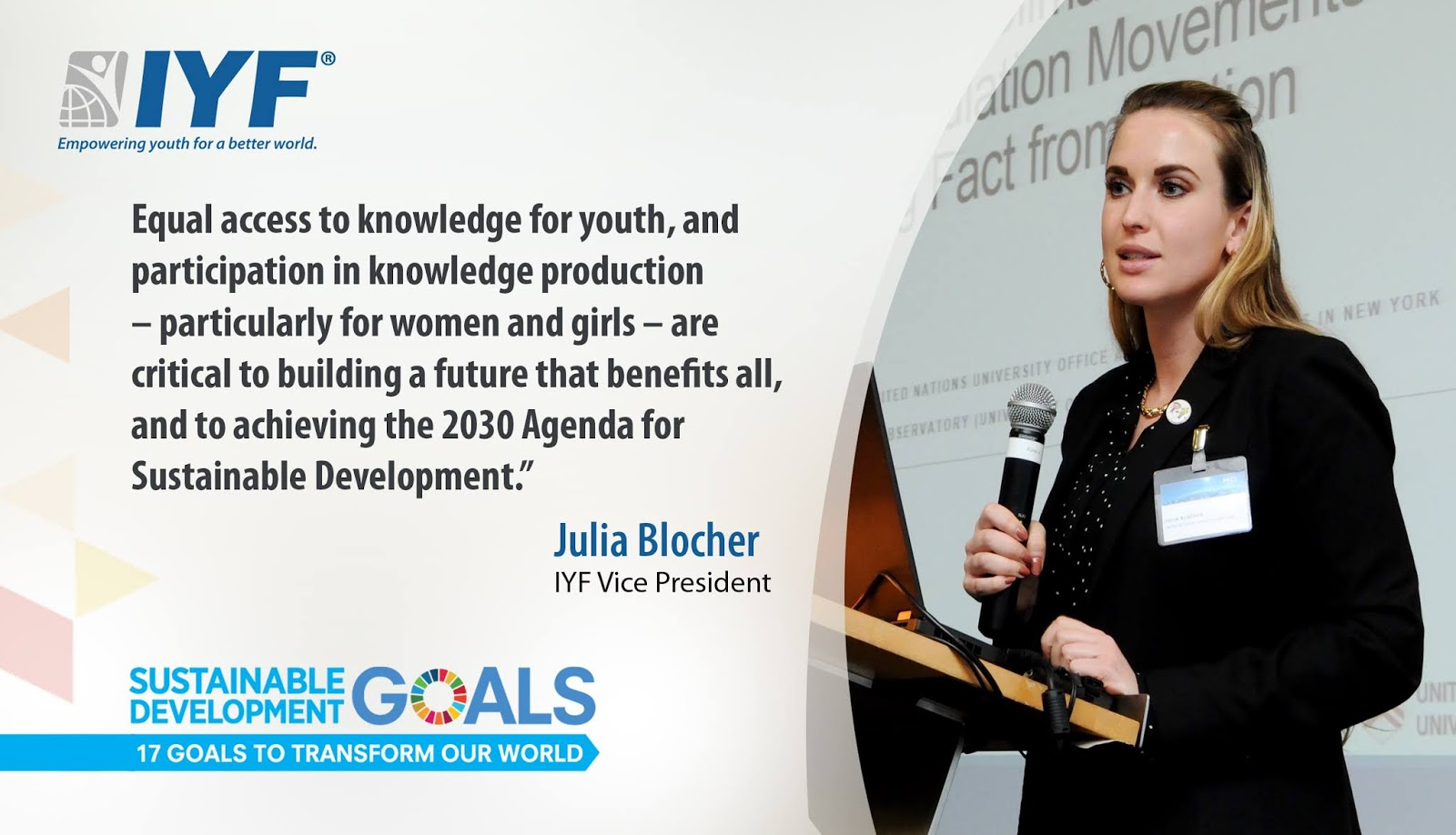 Julia Blocher, IYF Vice President