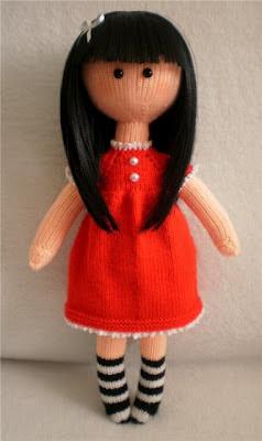 Вязаная кукла спицами