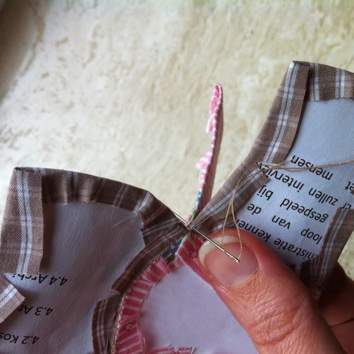 English paper piecing naaien vanuit de kruising