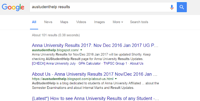 Anna University Revaluation Results 2016 Nov/Dec 2016 Jan 2017 Updates