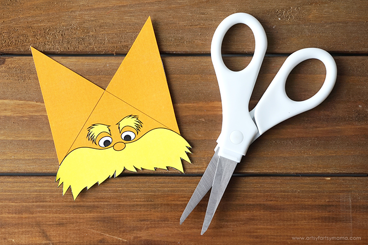 picture about Corner Bookmarks Printable known as No cost Printable Lorax Corner Bookmark artsy-fartsy mama